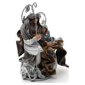 Natività in stile shabby chic colore argento 22 cm s3