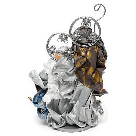 Natività in stile shabby chic colore argento 22 cm s4