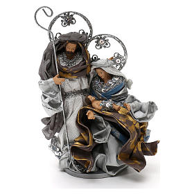 Holy Family Shabby chic style, in silver 22 cm s1