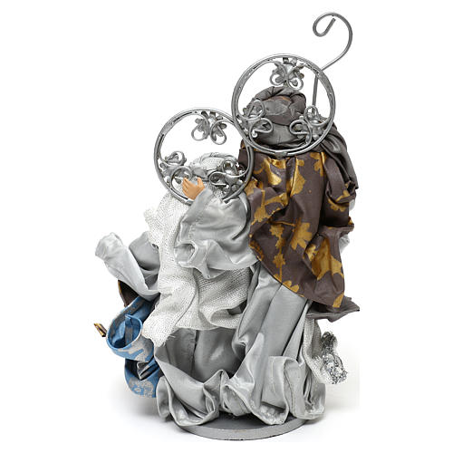 Holy Family Shabby chic style, in silver 22 cm 4