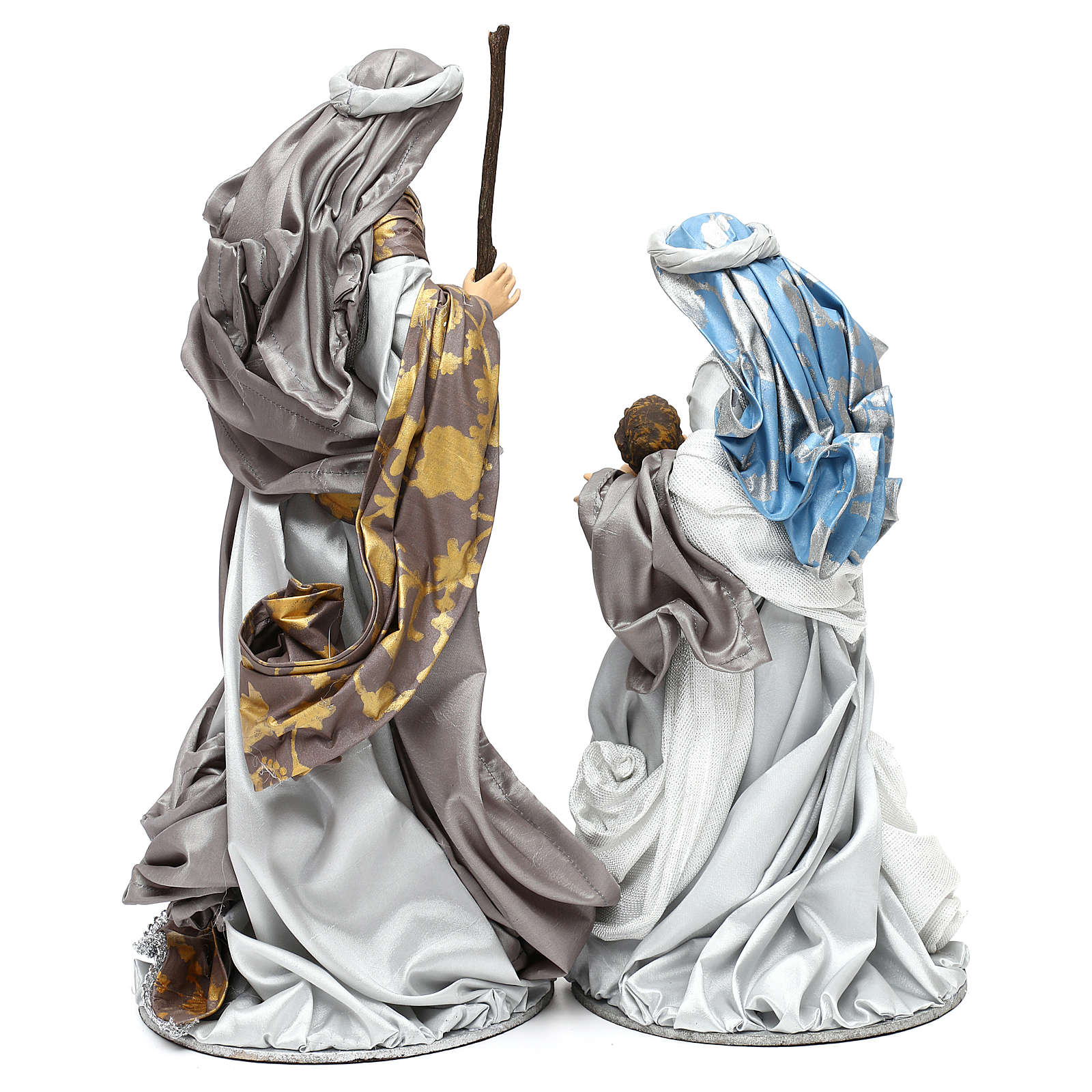 Holy Family silver figurines, Shabby chic style 38 cm 3