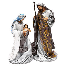 Holy Family silver figurines, Shabby chic style 38 cm s1