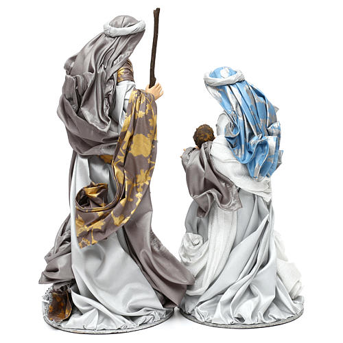 Holy Family silver figurines, Shabby chic style 38 cm 5