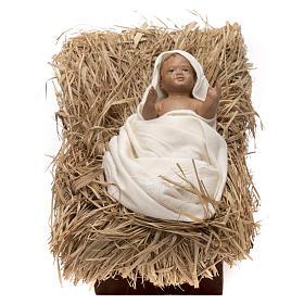 Natività bambino in culla 45 cm shabby chic s2