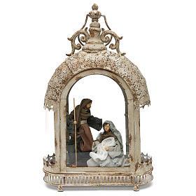 Natividade: Cena da Natividade 20 cm numa lanterna oval 50x30x15 cm