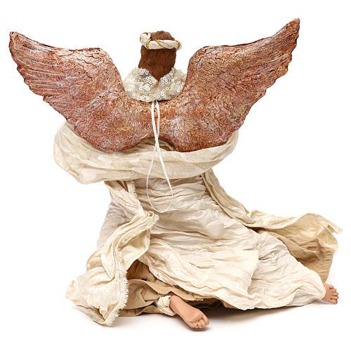 Ángel que vuela con trompeta 60 cm shabby chic 4
