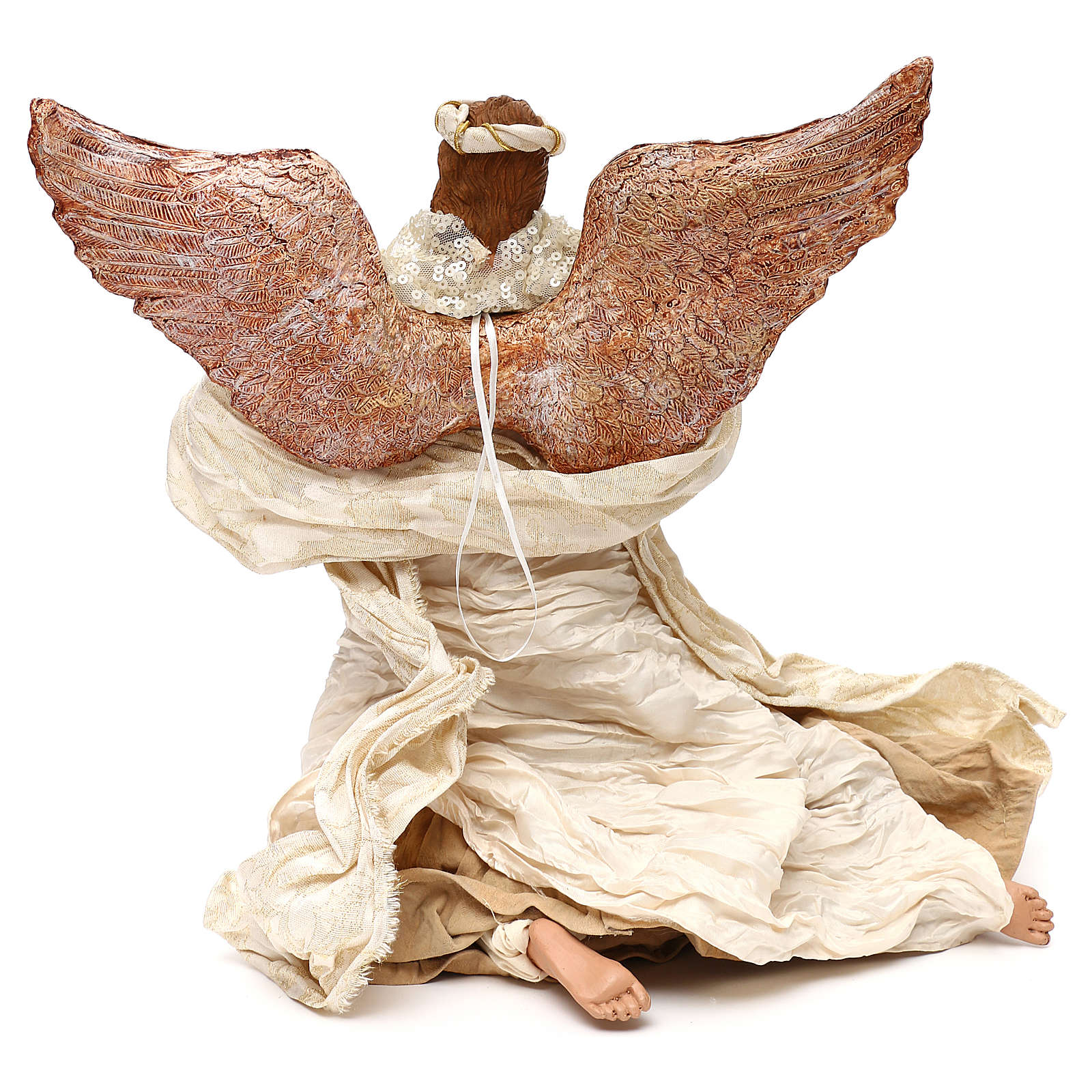 Flying angel with trumpet 60 cm, Shabby chic 3