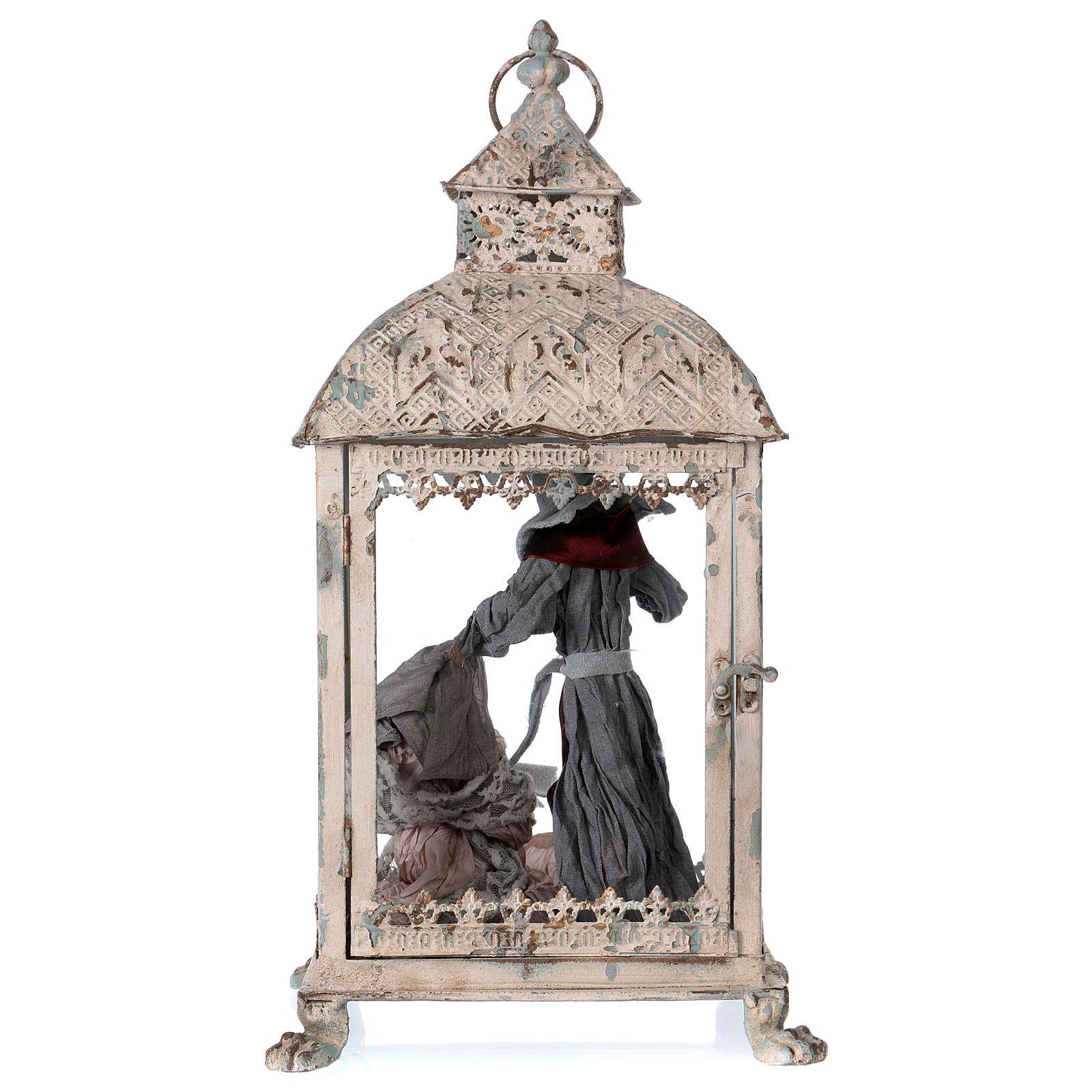 Holy Family scene in lantern 18 cm, 55x25x20 cm 3