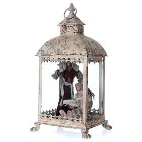 Holy Family scene in lantern 18 cm, 55x25x20 cm s3