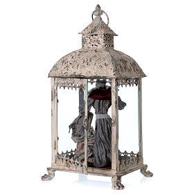 Holy Family scene in lantern 18 cm, 55x25x20 cm s4