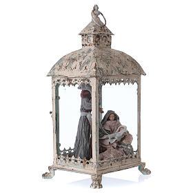 Holy Family scene in lantern 18 cm, 55x25x20 cm s5