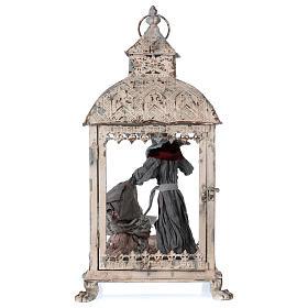 Holy Family scene in lantern 18 cm, 55x25x20 cm s7