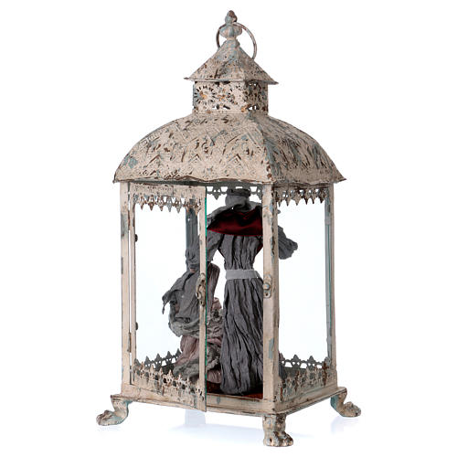 Holy Family scene in lantern 18 cm, 55x25x20 cm 4
