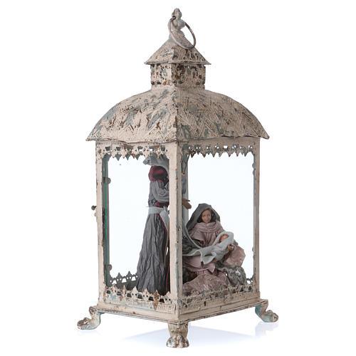 Holy Family scene in lantern 18 cm, 55x25x20 cm 5