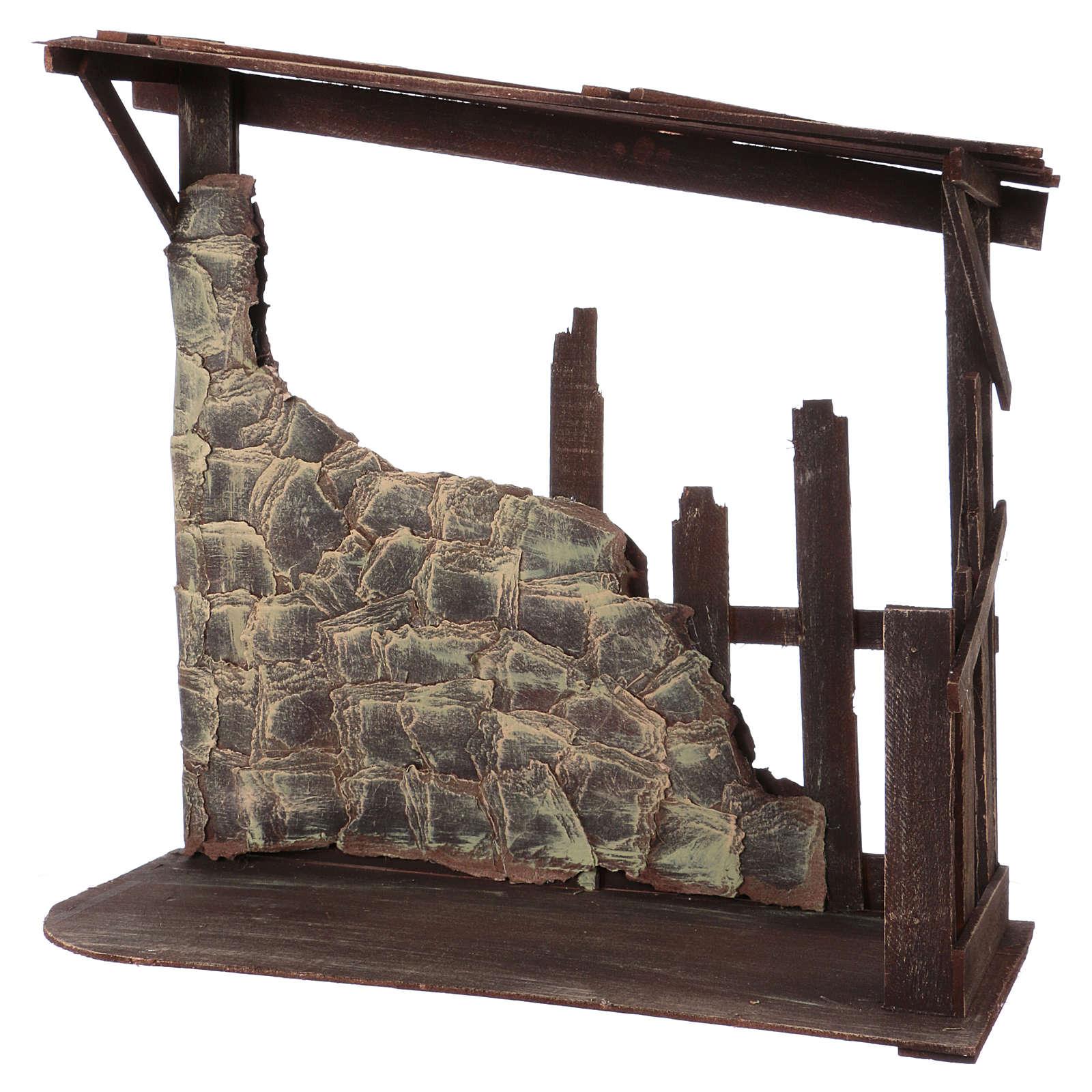 Cabaña de madera dimensiones 60x70x30 cm para belén 50 cm 4