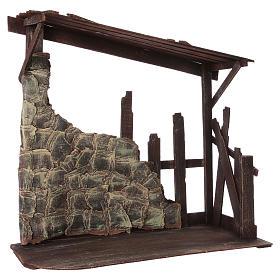 Cabaña de madera dimensiones 60x70x30 cm para belén 50 cm s2