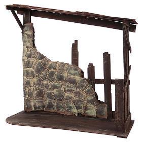 Cabaña de madera dimensiones 60x70x30 cm para belén 50 cm s3