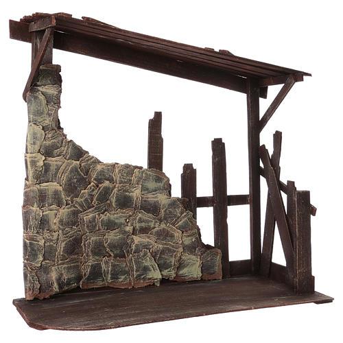 Cabaña de madera dimensiones 60x70x30 cm para belén 50 cm 2