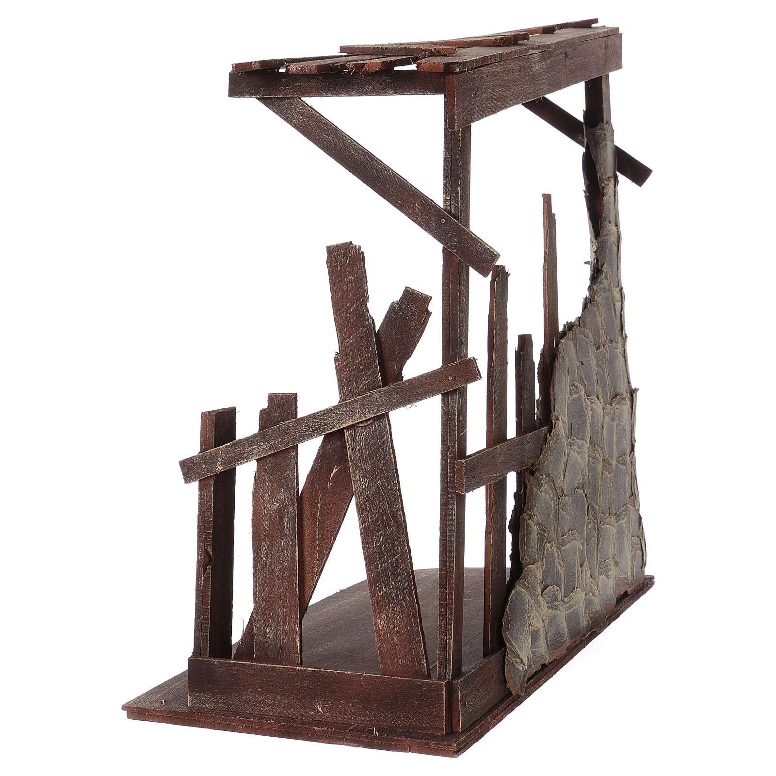 Cabane en bois 60x70x30 cm pour crèche 50 cm 4