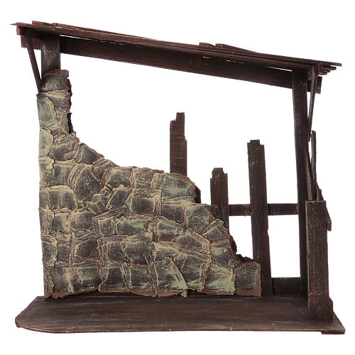 Cabane en bois 60x70x30 cm pour crèche 50 cm 1