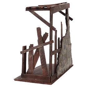 Capanna in legno dimensioni 60x70x30 cm per presepe 50 cm  s4
