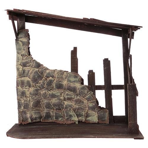 Capanna in legno dimensioni 60x70x30 cm per presepe 50 cm  1