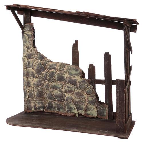 Capanna in legno dimensioni 60x70x30 cm per presepe 50 cm  3
