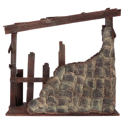 Wooden stable, 60x70x30 dimension for 50 cm nativity 5