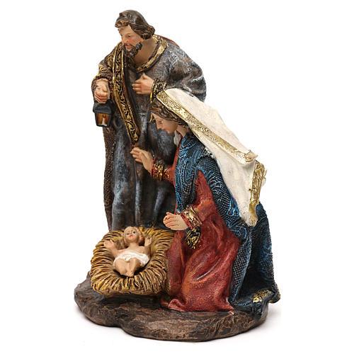 Composition Nativité en résine pour crèche de 14 cm 2