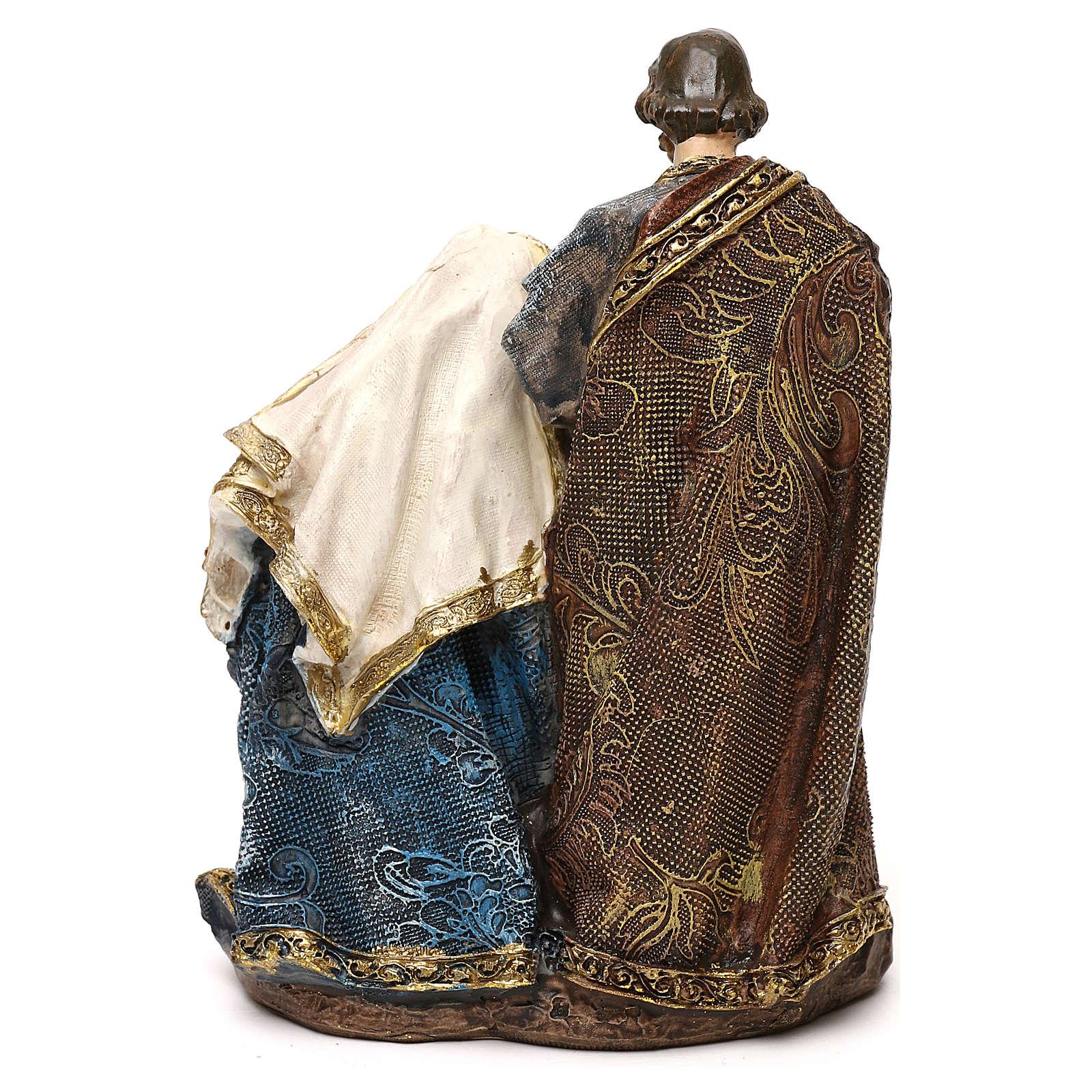Composição Natividade em resina para presépio com figuras de 14 cm de altura média 3