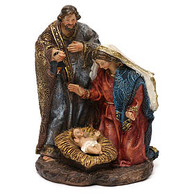 Holy Family Nativity in resin, for 14 cm scene s1