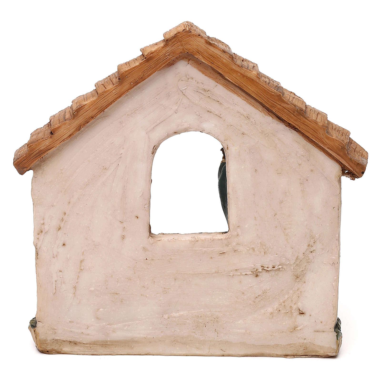 Natividad con cabaña para belenes de 11 cm 3