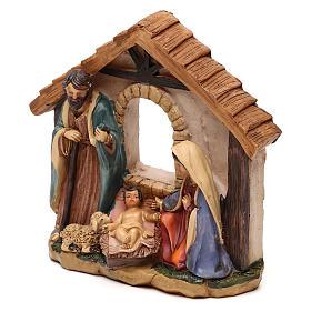 Nativité avec cabane en résine pour crèche de 11 cm s2