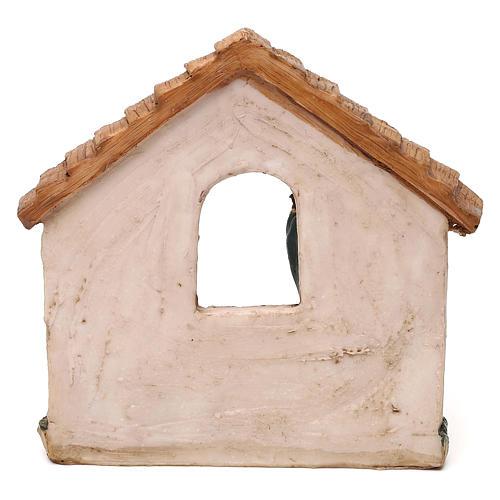 Nativité avec cabane en résine pour crèche de 11 cm 4