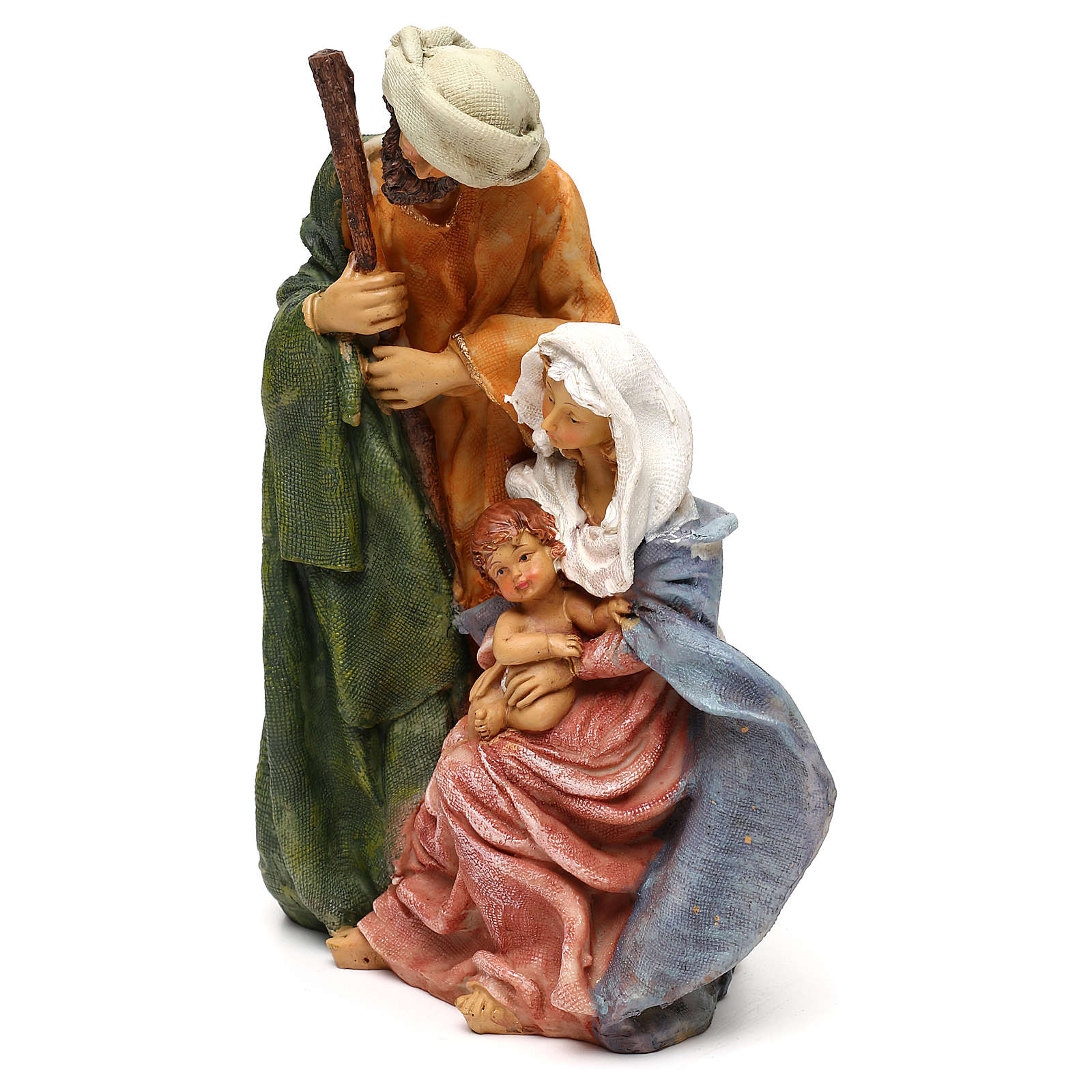 Arab style Holy Family in resin for Nativity scenes of 25 cm 3