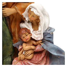 Holy Family in resin, Arab style for 25 cm nativity s2