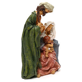 Holy Family in resin, Arab style for 25 cm nativity s4