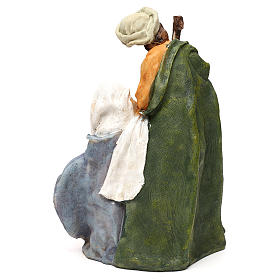 Holy Family in resin, Arab style for 25 cm nativity s5