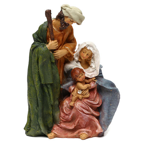 Holy Family in resin, Arab style for 25 cm nativity 1