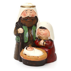 Holy Family set kids Arab line with lights 14 cm s1
