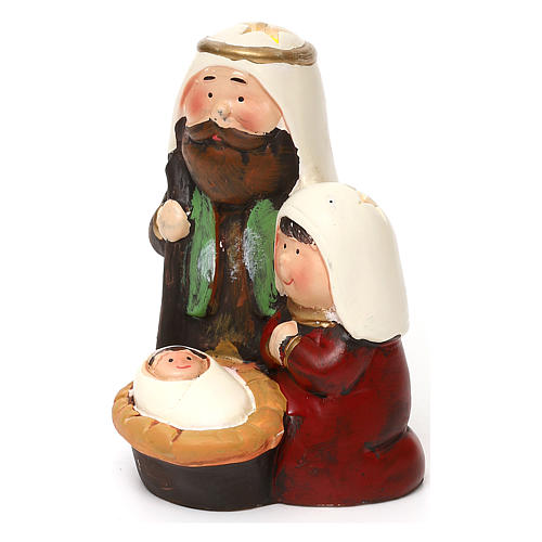 Holy Family set kids Arab line with lights 14 cm 2