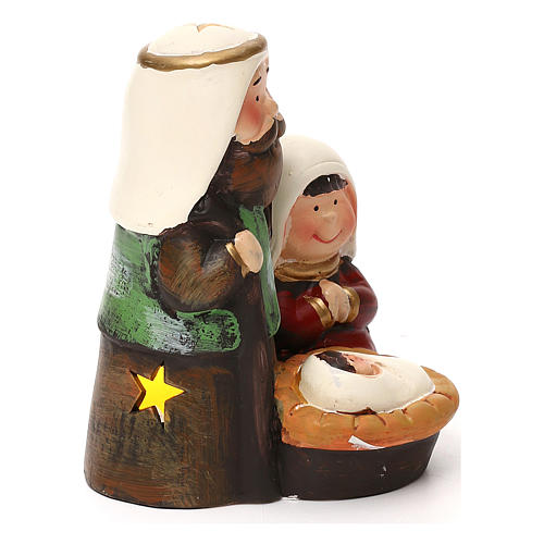 Holy Family set kids Arab line with lights 14 cm 3
