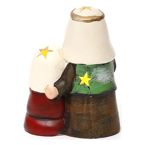 Holy Family set kids Arab line with lights 14 cm 4