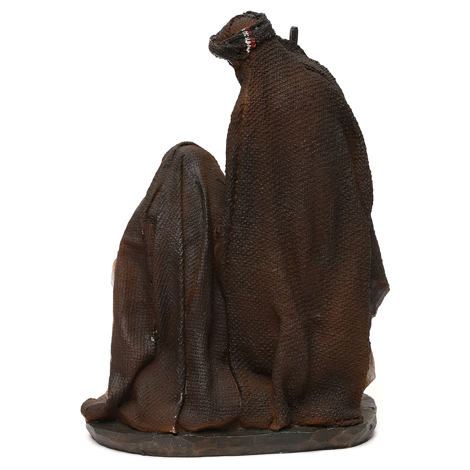 Natividade em resina roupas cor de pêssego e champanhe para presépio com figuras de 19 cm de altura média 3