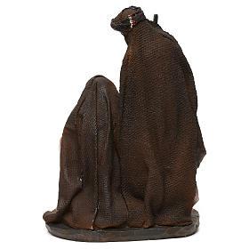 Natividade em resina roupas cor de pêssego e champanhe para presépio com figuras de 19 cm de altura média s4