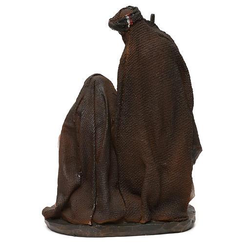 Natividade em resina roupas cor de pêssego e champanhe para presépio com figuras de 19 cm de altura média 4