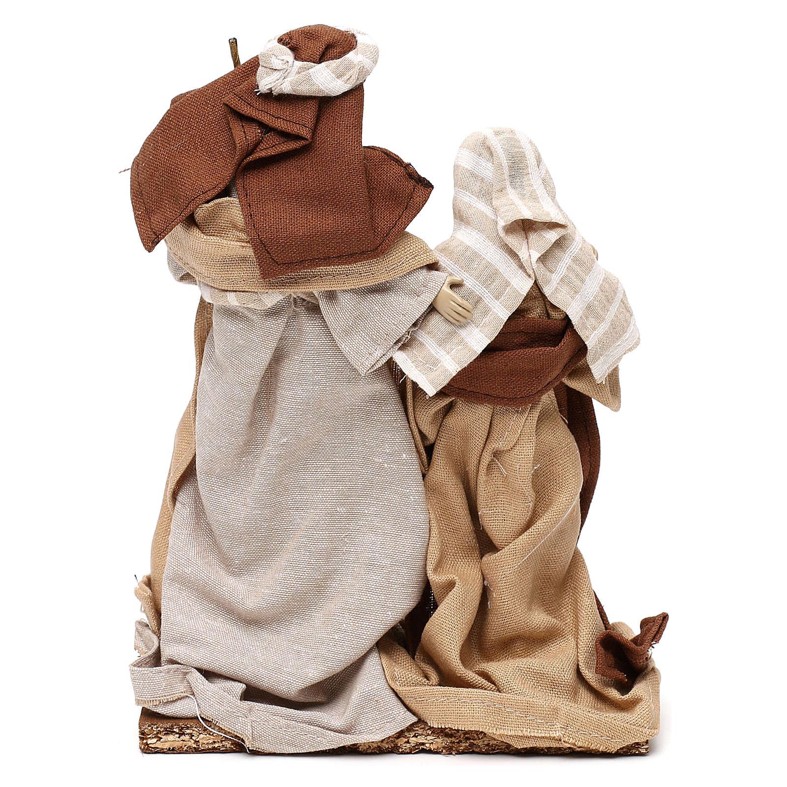 Arabic style Nativity scene with 22 cm beige cloth dresses 3
