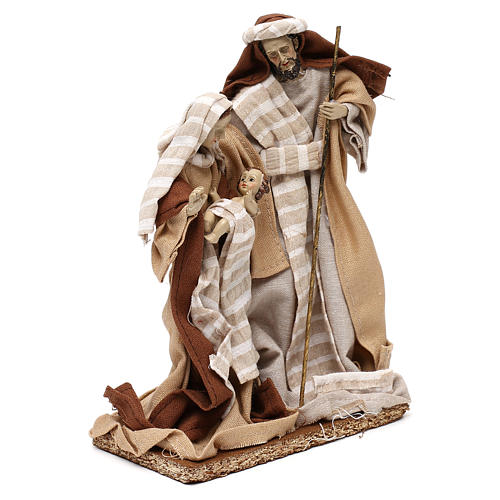 Arabic style Nativity scene with 22 cm beige cloth dresses 4