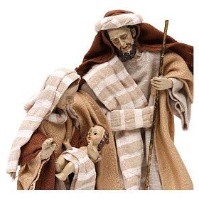 Natività stile arabo con vesti in stoffa beige 22 cm s2