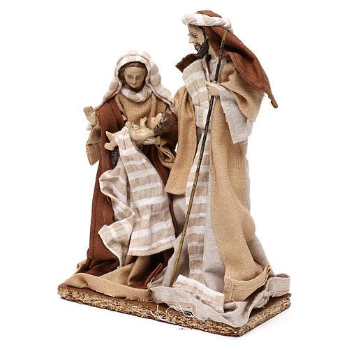 Natività stile arabo con vesti in stoffa beige 22 cm 3